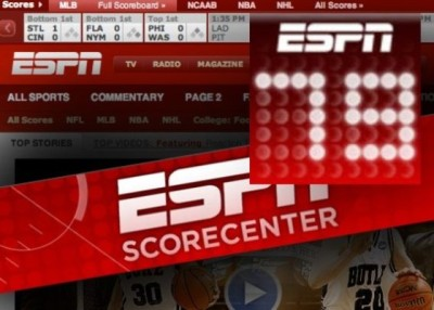 Espn  Auto Racing on Espn Ipad Espn Scorecenter Xl Ipad App